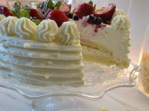 Minkštas tortas su maskarponės kremu