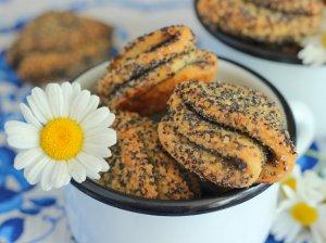 Varškės sausainiai su aguonomis (be kiaušinių)