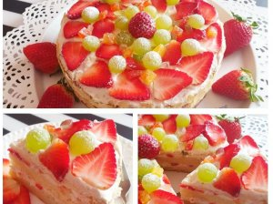 Tortas su varškės ir grietinėlės kremu