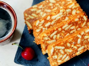 Karamelinis tinginys su riešutų sviestu