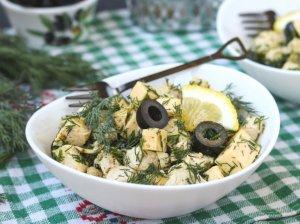 Greitos vištienos salotos su sūriu (be majonezo)