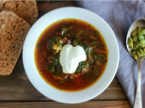 """""""Botvinja""""- burokėlių lapų sriuba"""