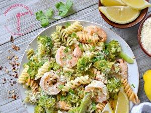 Makaronai su krevetėmis ir brokoliu