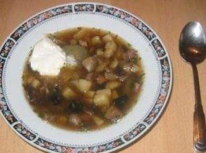 Grybų sriuba su slyvomis