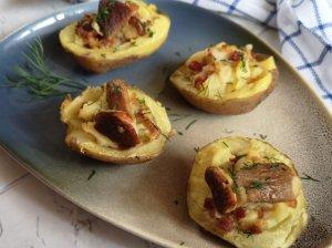 Bulvės keptos orkaitėje su baravykais ir šonine