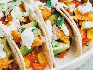 Tacos su žuvų piršteliais