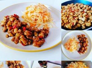 Vištiena kiniškai su marinuotais kopūstais