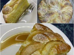Maskarponės sūrio pyragas su kriaušėmis