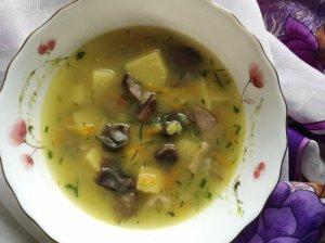 Kvapni daržovių sriuba su grybais