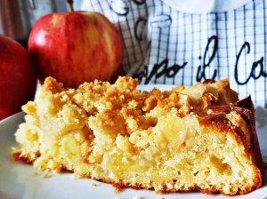 Trupininis pyragas su obuoliais