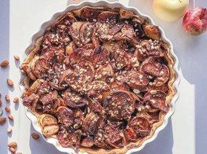 Obuolių pyragas be sviesto