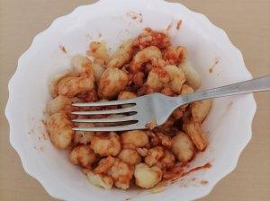 Naminiai itališki makaronai su sūriu ir pomidorų padažo kremu