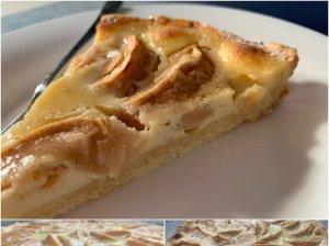 Prancūziška obuolių tarta (Tarte normande)
