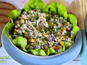 Šventiškos ryžių salotos su skumbre