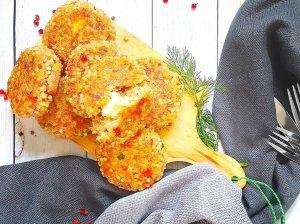 Grikių kotletai su mocarela sūriu