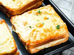 Prancūziški kepti sumuštiniai Croque Monsieur