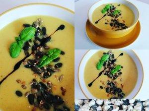 Žiedinių kopūstų sriuba su pelėsiniu sūriu