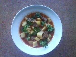 Tiršta jautienos sriuba