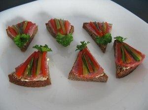 """Vieno kąsnio sumuštiniai """"Spalvoti trikampiukai"""""""