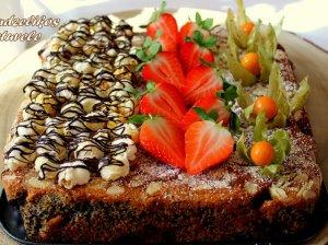 Varškės pyragas su uogomis
