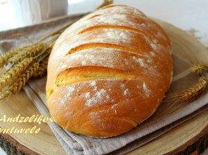 Šviesi naminė duona be raugo