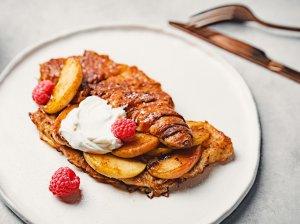 Prancūziški pusryčių skrebučiai iš kruasanų