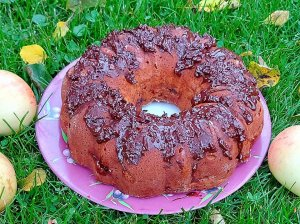 Minkštas grietininis pyragas su obuoliais