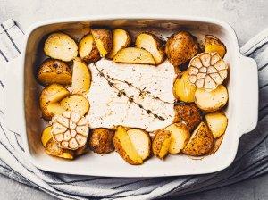 Orkaitėje keptos bulvytės su feta