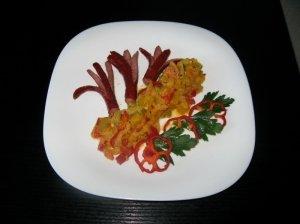 Daržovių garnyras prie mėsos patiekalų