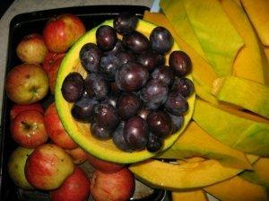 Obuolių - moliūgų - slyvų sultys