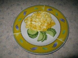 Kiaušinienė su sūriu