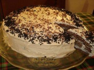 Migdolinio biskvito tortas su kavos kremu