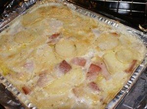 Bulvių ir kumpio apkepas