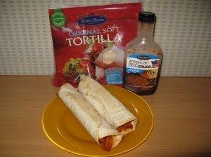 Tortilijos su dešra ir troškintomis daržovėmis
