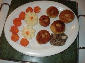 Bulvių ir pupelių  blyneliai