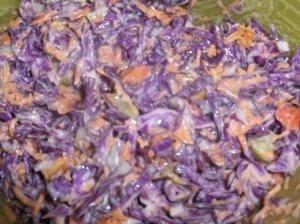 Mėlynojo kopūsto salotos