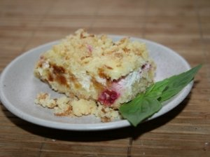 Purus trupininis varškės pyragas