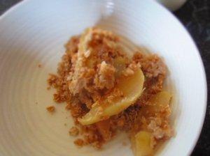 Obuolių ir perlinių kruopų apkepas