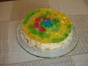 """Varškės ir sausainių tortas """"Velykaitis"""""""