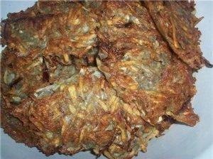 Bulvių ir raugintų kopūstų blynai