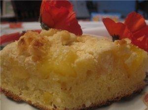 Pyragas su ananasais ir kokosais