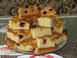Vyšnių ir mandarinų pyragas