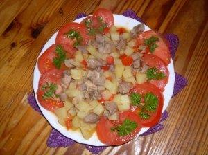 Mėsos ir daržovių  troškinys aluje
