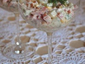 Traškios šventiškos daržovių salotos