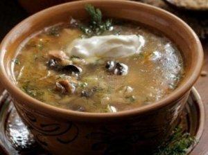 Kopūstų ir grybų sriuba