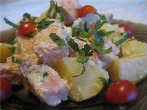 Troškinta žuvis su bulvėmis