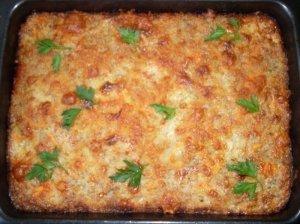 Grikių apkepas su sūriu ir morkomis