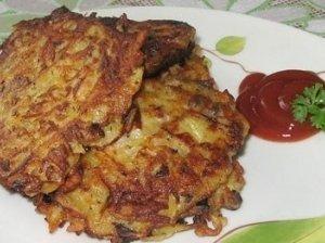 Bulvių, kopūstų ir morkų blyneliai