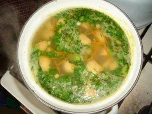 Daržovių ir grybų sriuba