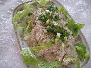 Balta mišrainė su tunu